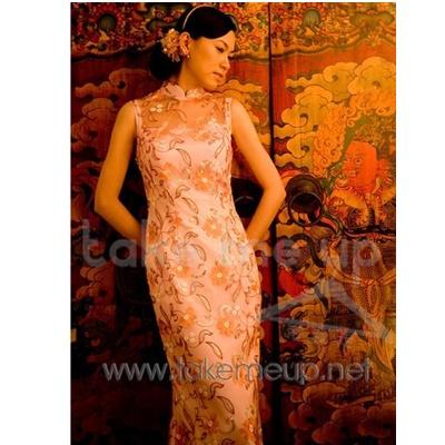 北京 旗袍/新娘旗袍宴会晚装日常夏装旗袍(整幅蕾丝)...