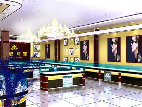 珠宝店面装修设计,珠宝展示柜制作