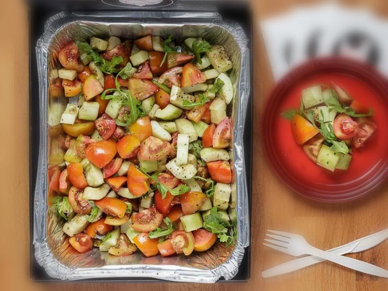 黄瓜和番茄沙拉